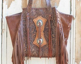 Western Floral Fringe Shoulder Bag