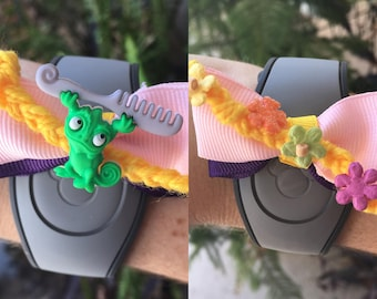 Tangled Theme Magic Band Bow (Rapunzel or Pascal)