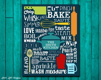 Kitchen Sign. Kitchen Wall Decor. Kitchen Decor. Kitchen Wall Art. Kitchen Word Art. Kitchen Utensils. In the Kitchen. Personalized Gift.