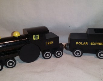 Custom wooden Polar express train compatible with Thomas wooden trains, Brio trains,