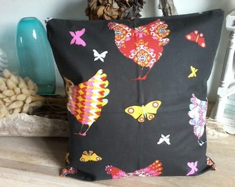 Bohemian pillow cover - 40 x 40 cm-cotton french-chicken pattern