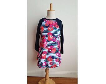 READY TO SHIP - Correa Longsleeve Girls Dress - Knit Dress - Girl Toddler Dress - Girls Clothing - Long Sleeve Dress
