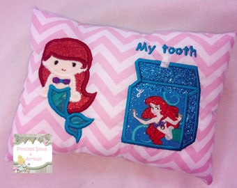 tooth fairy pillow, girls PERSONALIZED mermaid tooth fairy pillow