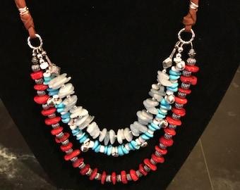 Artisan Harmony Three Strand Necklace