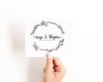 Pre Made Logo Design - Feminine logo, Logo Design, Brand Design, Business Logo, Photography Logo, Boutique Logo, Hand Drawn Logo