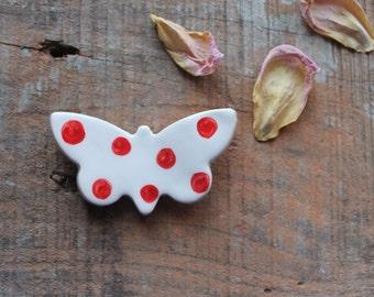 Magnete farfalla rossa