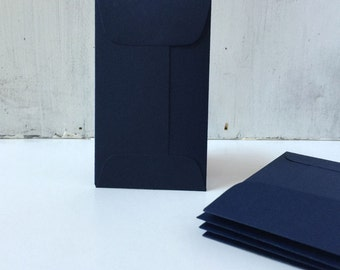 25 Navy Blue Wedding Envelopes,Coin Envelopes, Business Card Envelopes, Wedding Staionery, Mini Envelopes with Flap, e25