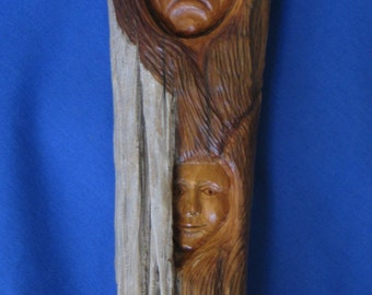 driftwood expressive faces man and woman