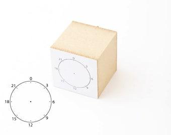 Mizuhsima Schedule Circle Stamp / Daily Planner Stamp / Visual Time Stamp