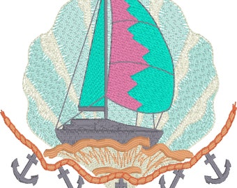 Housewarming ,Gift , Sailboat , Anchors,Shell,Nautical Theme,Beach Towel,Mothers Day.
