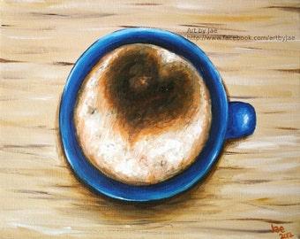 Coffee Cup Home Decor Small Wall Art 8x10 Print