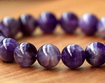 Amethyst genuine gemstones bracelet
