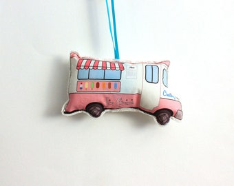 Ice cream truck ornament- christmas ornament- Tree decorations