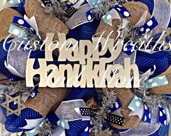 Happy Hanukkah wreath