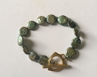 Green Pearl Dragon Bracelet