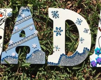 Frozen Monogram Letters, Frozen Letters,Olaf Monogram Letters, Monogram Letters, Olaf Letters, Wood Letters, Girl Room Decor