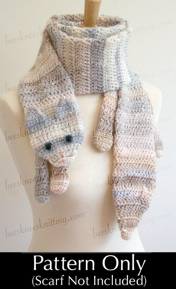 Digital PDF Crochet Pattern for Calico Cat Scarf DIY Fashion