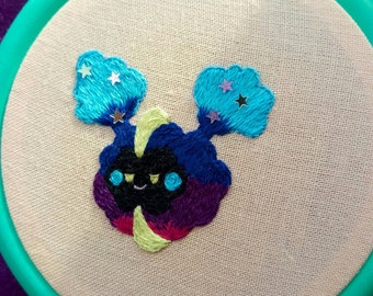 Cosmog/Nebby embroidered pin/patch