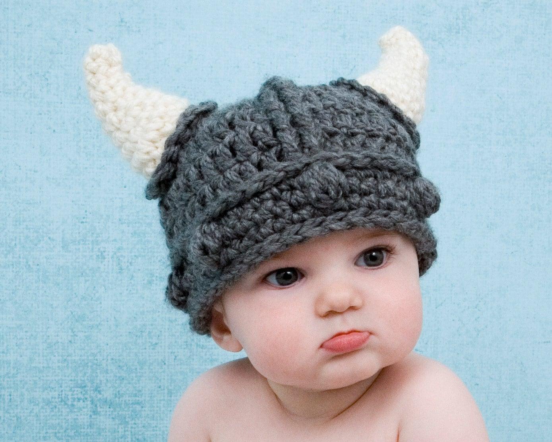 Viking Hat Crochet Pattern Baby Adult Child Knight Dwarf