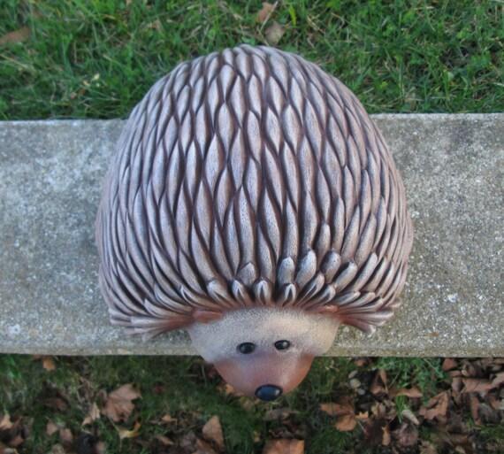 Hedgehog   Yard Art   Garden Art   Lawn Ornament   Ceramic Hedgehog Statue    Hedgehog Home Decor   Garden Decor   Ready To Ship Gift Idea