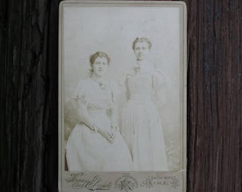 Vintage Photograph Victorian Girls Photo