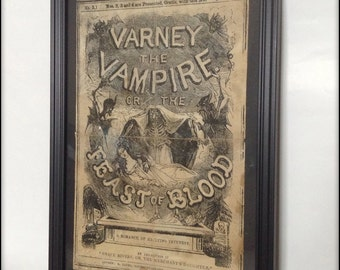 Penny Dreadful - Varney the Vampire Reproduction Cover in frame.