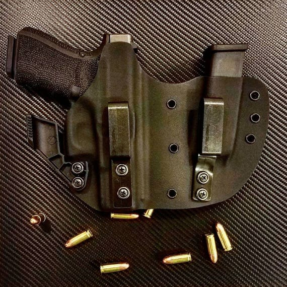 Glock 19, 23, & 32 Kydex IWB Right Hand Appendix Concealed Carry Gun Holster and Magazine Combo