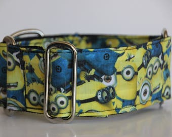 "Greyhound - Many Minions 2"" Martingale Collar"