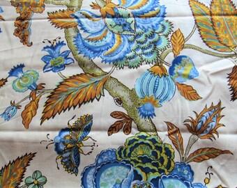 waverly/schumacher old sturbridge village print vintage cotton home decor fabric -- 56 wide by 1 yard