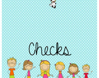 Personalized Checkbook Cover Family