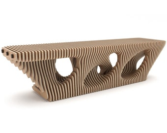 Internecto Bench - CNC Cut Parametric Bench