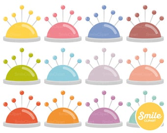 Pin Cushion Clipart Illustration for Commercial Use | 0547