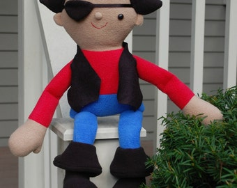 Roger the Pirate - PDF Pattern with Easy-to-Follow Instructions and Step-by-Step Photos