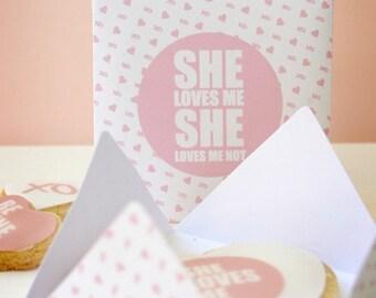 Valentines - She Loves Me - Printable Set