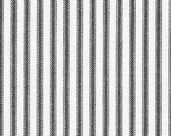 HOME DECOR Black and White Ticking by Premier Prints