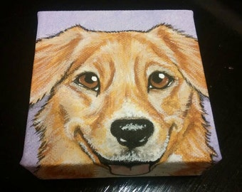 Custom Pet Portrait Painting 4x4