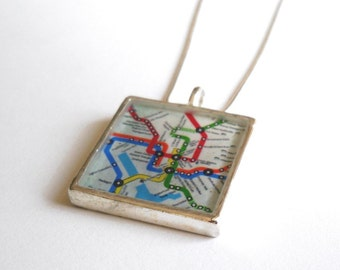 DC Metro Map Pendant