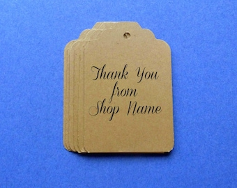 50 thank you tags clothing hang tags personalized tags large tags scallop top tags merchandise tags kraft tags w twine gift tags price tags