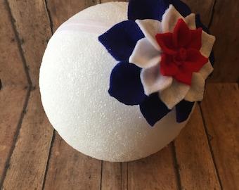 4th of July headband, baby headbands, patriotic headbands, 4th of July hair bows, patriotic hair bows, infant headbands, headbands,
