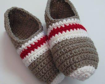 PATRON PDF No 16 Pantoufles bas de laine au crochet pour femmes explications français chaussons adulte 3petitesmailles