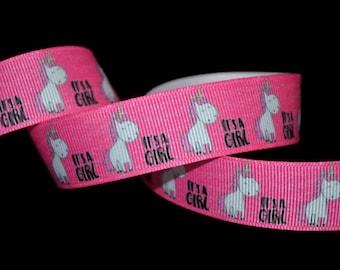 It's A Girl Ribbon, Unicorn Ribbon, Baby Shower Ribbon, Mom to Be Ribbon, Baby Shower DIY, Baby Girl Ribbon, Announcement Ribbon