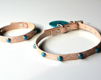 Cat Collar and Matching Bracelet Set. Matching Pet Set. Cat Lover Set. Matching Pet and Owner Set. Pet Lover Gift.  Cat Lover Gift