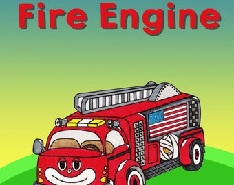 Children's Book Fire Truck Book Gifts For Children Kids Gifts For Kids Book Picture Books For Kids Fire Engine Fireman Book Fire Fighter