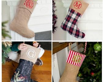 Burlap Christmas Stocking, Personalized Burlap Stockings, Monogram Burlap Stockings, Burlap Stocking, Christmas Burlap Stocking, Stocking