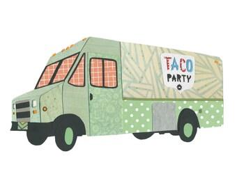 Taco Party 5x7 Print - Boston Food Trucks