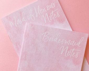 Bridesmaid Notebook - Bridesmaid Gift - Maid of Honour Notebook - Maid of Honour Gift