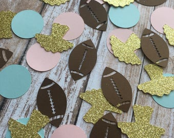 Touchdowns or Tutus Confetti, Gender Reveal Confetti, Gender Reveal Table Decor, Football Gender Reveal Party, Gender Reveal Party Confetti