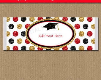 Graduation Chocolate Wrappers, Candy Bar Wrappers, Chocolate Bar Wrappers Graduation, Glitter Party Favors, Printable Grad Party Favors G12
