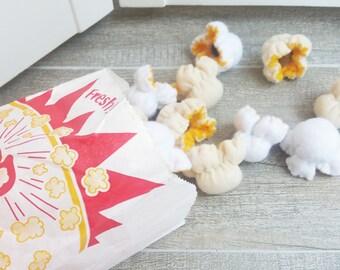 3 to 5 PCS BUTTER POPCORN - Catnip Cat Toy, cat toy, cat toys, catnip toy, Cat, Kitty, christmas, cat toy gift, popcorn, catnip popcorn