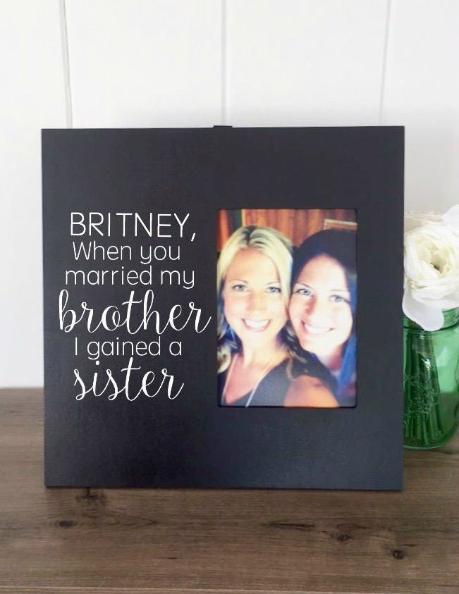 Sister In Law Frame, Sister In Law Birthday Gift, Sister in law ...